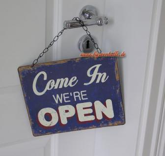 Open Closed Geöfnet Geschlossen Türschild Schild Geschäft Deko
