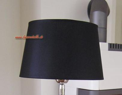 lampenschirm schwarz elegant f r stehlampe stehleuchte zur. Black Bedroom Furniture Sets. Home Design Ideas