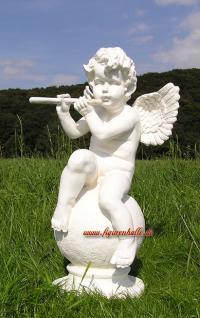 Engel auf Kugel Dekofigur Gartenfigur - Vorschau 1