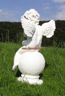 Engel auf Kugel Dekofigur Gartenfigur - Vorschau 5