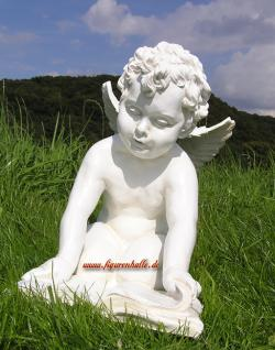 Engel Figur mit Buch Dekofigur Gartenfigur