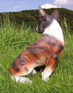 Bullterrier Pit Bull Rasse Hundefigur Statue Skulptur - Vorschau 3