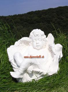 Engelchen in Muschel Figur Gartenfigur Engel Deko