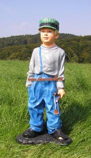 Junge Gartenfigur frecher Deko Statue Garten Dekoration fröhlicher