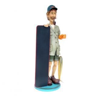 Angelgeschäft Deko Figur und Statue als Werbefigur für Köder und Angelbedarf - Vorschau 1