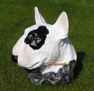 Pitbull Tierfigur Hundefigur Figur Kopf Weiß - Vorschau 3