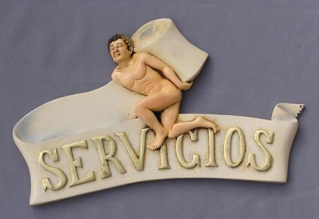 Service Schild Hinweisschild Deko Bar Kneipe Schwul Schild - Vorschau 1