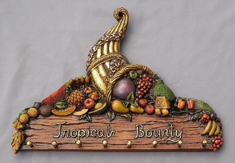 Gaderobe Wandschild Deko Tropical Bounty Dekoration