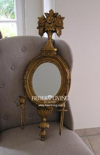 elWandspiegel gold Farbend oval Shabby Chic Franc Deko Art Deco Stil