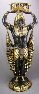 Ägyptische Wache Ägypter lebensgroß Figur Statue Skulptur Fan Dekoration Mächtig