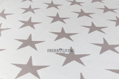 Kuscheldecke Star Sterne Wolldecke grau Wendedecke Landhausstil - Vorschau 4