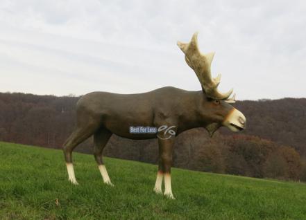 Großer Elch als Weihnachtsfigur oder lebensechte Statue Skulptur Deko