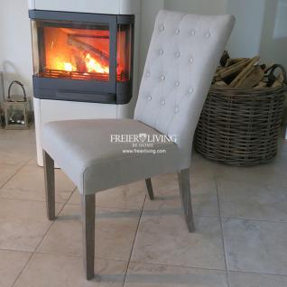 esszimmerstuhl polsterstuhl leinen natur impressionen shabby chic deko kaufen bei helga freier. Black Bedroom Furniture Sets. Home Design Ideas