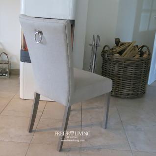 esszimmerstuhl polsterstuhl leinen natur impressionen. Black Bedroom Furniture Sets. Home Design Ideas