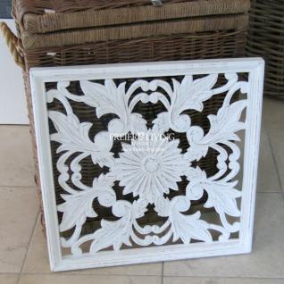 Wandornament Onament Holz weiß Wanddekoration Deko Shabby Chic
