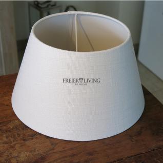 Lampenschirm rund weiß 30 cm für Tischleuchte Shabby Chic - Vorschau 1