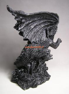 Drachen Aufstellfigur Düsterer Style Statue Deko - Vorschau 2