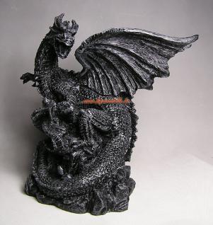 Drachen Aufstellfigur Düsterer Style Statue Deko - Vorschau 3