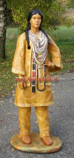 Indianer Squaw als Lebensgoße Figur