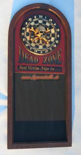 Wandschild Dart Dartscheibe mit Totenkof Antik Deko - Vorschau 3