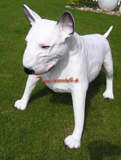 American Pitbull Tierfigur Hundefigur Figur Kopf Weiß