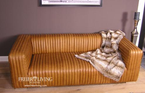 Art Deco Sofa braun Cognac Impressionen Eecht Leder Antik - Vorschau 1