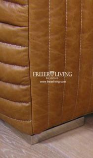 Art Deco Sofa braun Cognac Impressionen Eecht Leder Antik - Vorschau 2