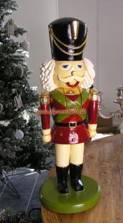 Antik Nussknacker Figur groß Statue Deko Dekoration Weihnachtsdekoration