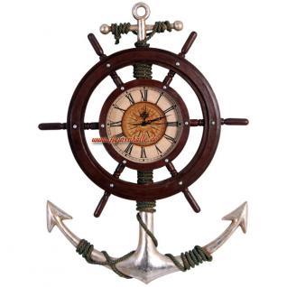 Maritime Wanduhr Anker Antik Deko Piraten Uhr - Vorschau 1