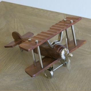 Holz Doppeldecker Flugzeug Aluminium Deko Büro Impressionen