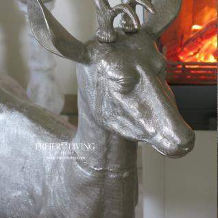 aluminium hirsch rentier reh wild deko figur gro kaufen bei helga freier. Black Bedroom Furniture Sets. Home Design Ideas
