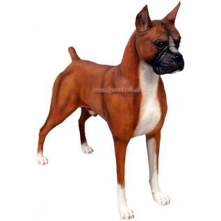Boxer Dekofigur Figur Hunde Dekortion Deko - Vorschau 1