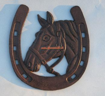 Pferd Hufeisen Antik Ornament Reitsport Deko Wandschild