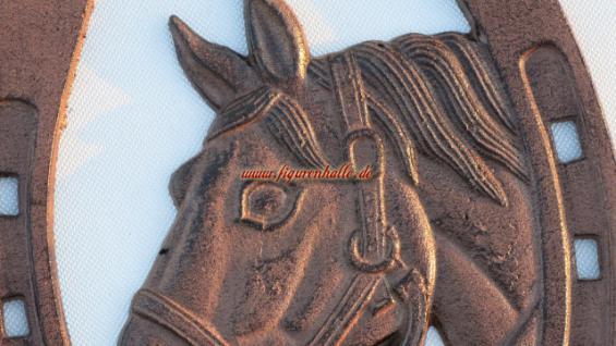 Pferd Hufeisen Antik Ornament Reitsport Deko Wandschild - Vorschau 2