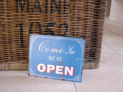 Open Closed Geöfnet Geschlossen Türschild Schild Geschäft Deko - Vorschau 1
