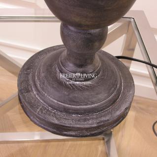 Lampenfuß Tischleuchte schwarz Holz Vintage Schabby Chic - Vorschau 4