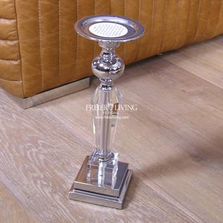 Kerzenhalter Kerzenständer Chrom Acrylglas Art Deco