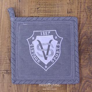 Topflappen Club grau Vintage Deko - Vorschau 1
