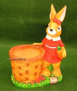 Ostern Hasen Frau mit Körbchen als Figur
