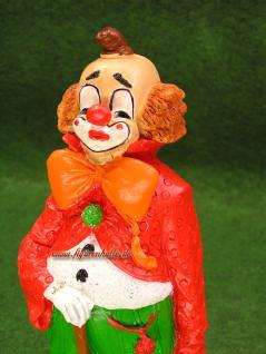 Clown Figur mit Regenschirm und Koffer Zierkus Deko - Vorschau 3