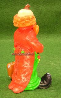 Clown Figur mit Regenschirm und Koffer Zierkus Deko - Vorschau 4