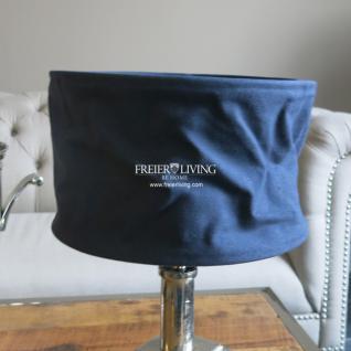 Lampenschirm rund blau Shabby Chic Mediterraner Wohnstil E27 - Vorschau 1