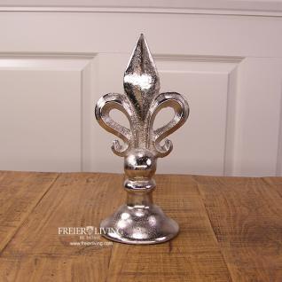 Französiche Lilie Aluminium Alu Dekoration Deko