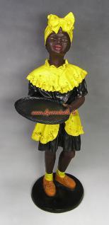 Frau Black Afrika Butler Diner Dekoration Deko