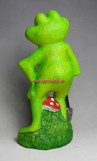 Witziger Frosch als Gartenfigur oder Teichdeko - Vorschau 4