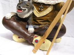 Indianer Figur Western Skulptur Wolf Dekofigur - Vorschau 3