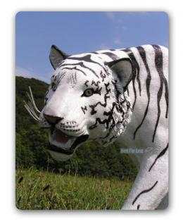 Weißer Tiger Dekofigur Lebensgroß Tiga Figur Deko