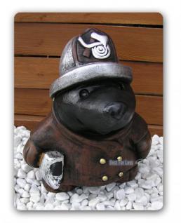 Maulwurf als Feuerwehrmann Figur Statue Dekoration - Vorschau 3
