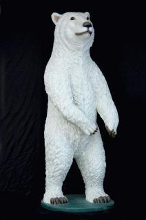 Riesen Eisbär Dekofigur Lebensgroß Bärn Figur - Vorschau 4