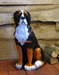 Bernhardiner Hund Hunde Figur Statue Skulptur Gartenfigur